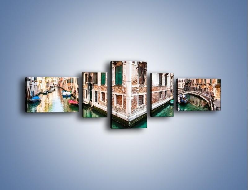 Obraz na płótnie – Skrzyżowanie wodne w Wenecji – pięcioczęściowy AM081W6