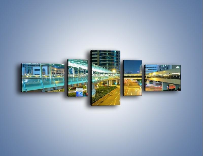 Obraz na płótnie – Droga na lotnisko w Japonii – pięcioczęściowy AM088W6