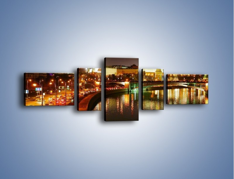 Obraz na płótnie – Moskwa nocą – pięcioczęściowy AM118W6