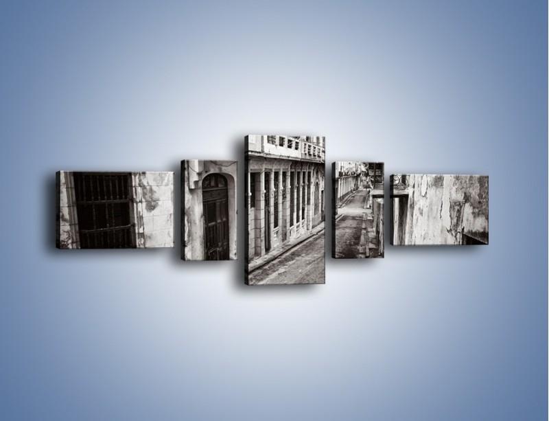 Obraz na płótnie – Urokliwa uliczka w starej części miasta – pięcioczęściowy AM124W6