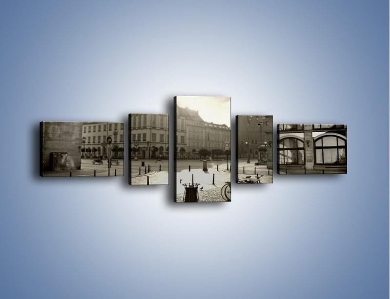 Obraz na płótnie – Rynek Starego Miasta – pięcioczęściowy AM136W6