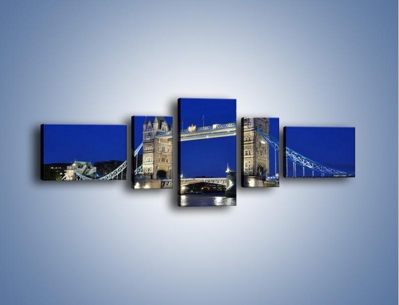 Obraz na płótnie – Tower Bridge nocą – pięcioczęściowy AM145W6