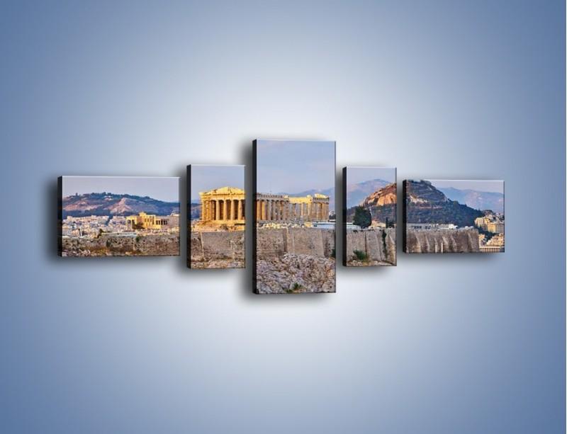 Obraz na płótnie – Ateńskie ruiny – pięcioczęściowy AM162W6