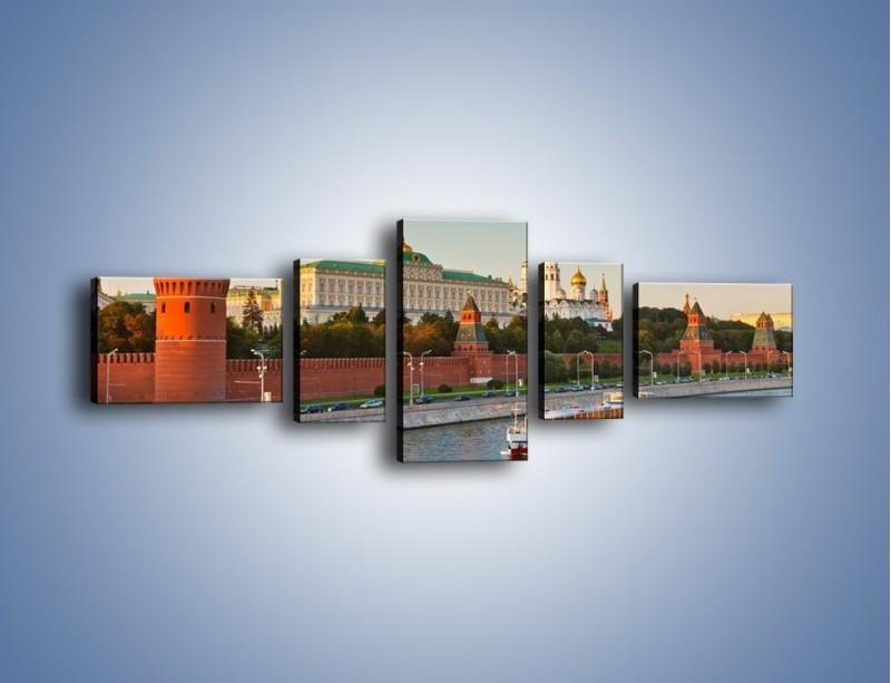 Obraz na płótnie – Kreml w środku lata – pięcioczęściowy AM164W6