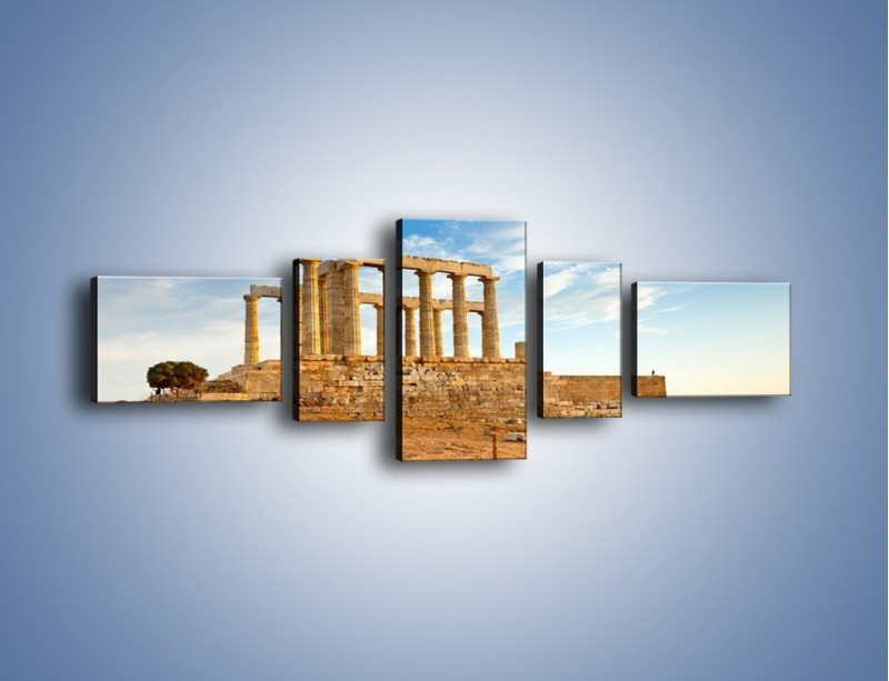 Obraz na płótnie – Antyczne ruiny – pięcioczęściowy AM168W6