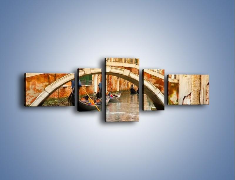 Obraz na płótnie – Weneckie gondole – pięcioczęściowy AM172W6