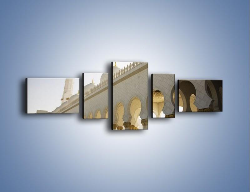 Obraz na płótnie – Bliskowschodnia architektura – pięcioczęściowy AM177W6