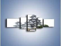 Obraz na płótnie – Azjatycka architektura – pięcioczęściowy AM181W6