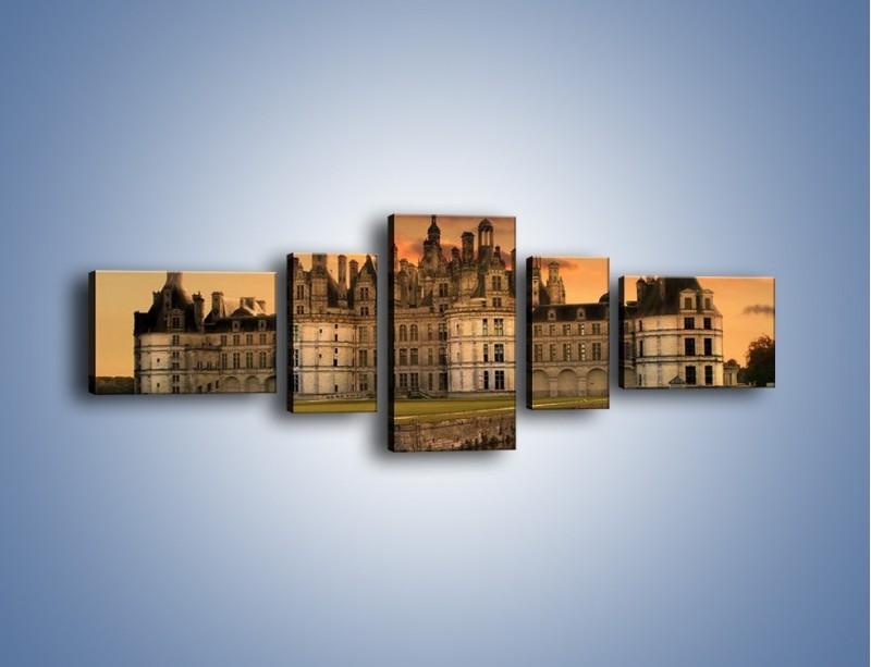 Obraz na płótnie – Stary zamek – pięcioczęściowy AM200W6