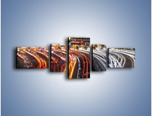 Obraz na płótnie – Autostradowa bramka w ruchu świateł – pięcioczęściowy AM236W6