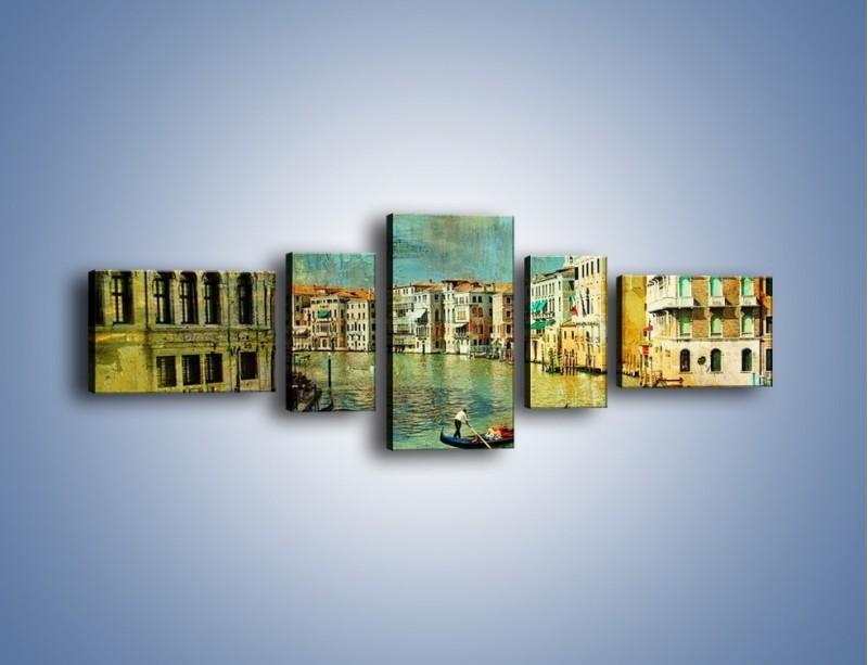 Obraz na płótnie – Weneckie lato w stylu vintage – pięcioczęściowy AM245W6