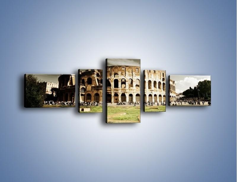 Obraz na płótnie – Koloseum przed burzą – pięcioczęściowy AM271W6