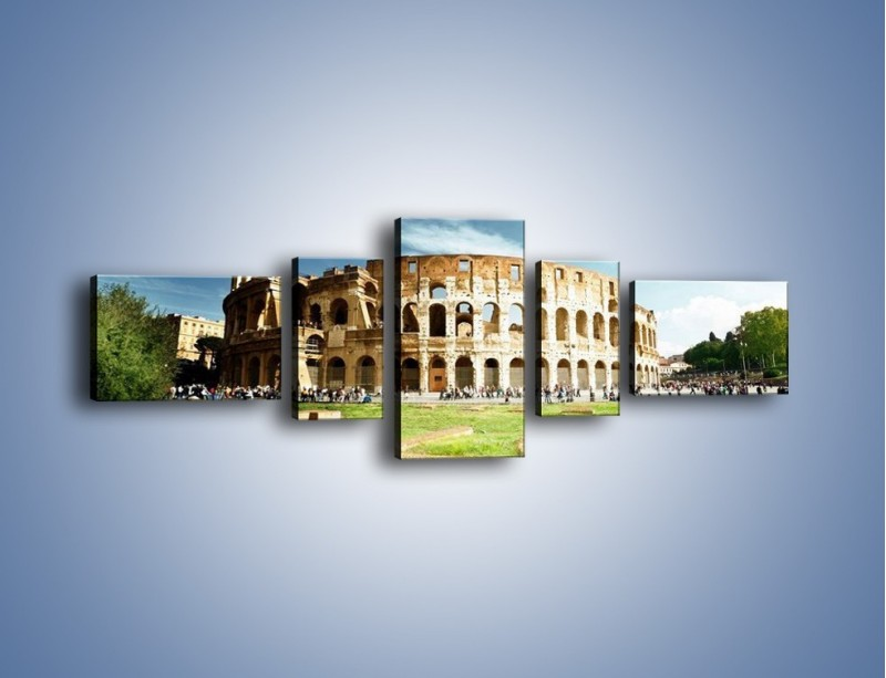 Obraz na płótnie – Koloseum w piękny dzień – pięcioczęściowy AM273W6