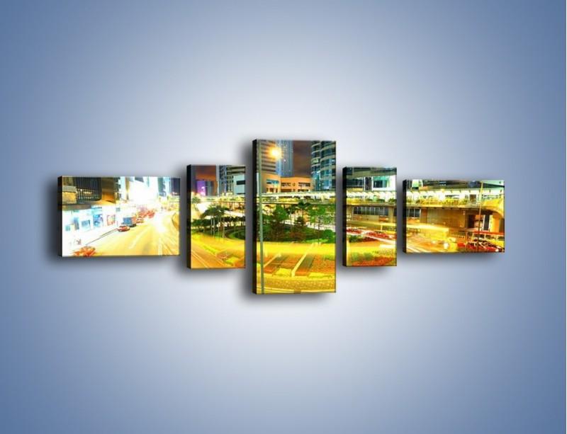 Obraz na płótnie – Światła samochodów w ruchu – pięcioczęściowy AM280W6