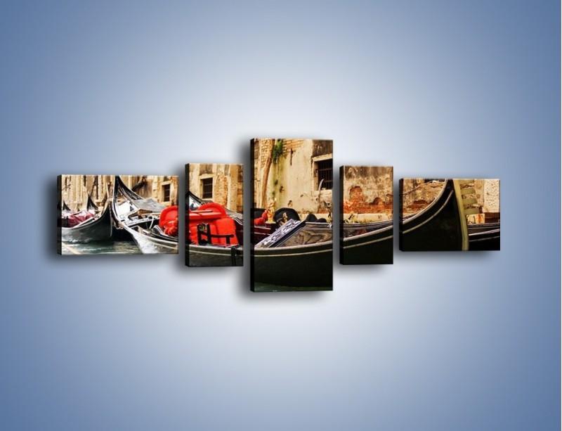 Obraz na płótnie – Wenecka gondola – pięcioczęściowy AM286W6