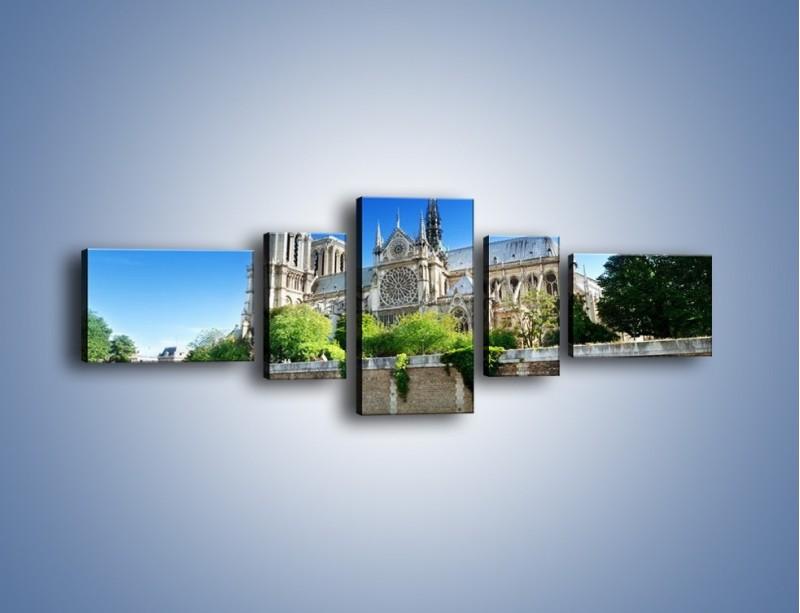 Obraz na płótnie – Katedra Notre-Dame – pięcioczęściowy AM305W6