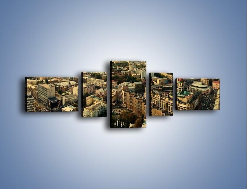 Obraz na płótnie – Panorama Kijowa – pięcioczęściowy AM326W6