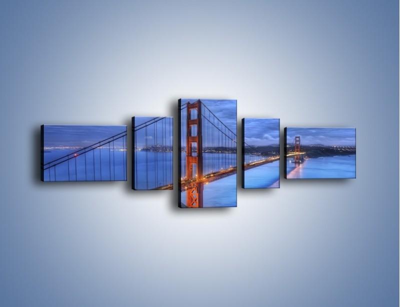 Obraz na płótnie – Most Golden Gate – pięcioczęściowy AM328W6