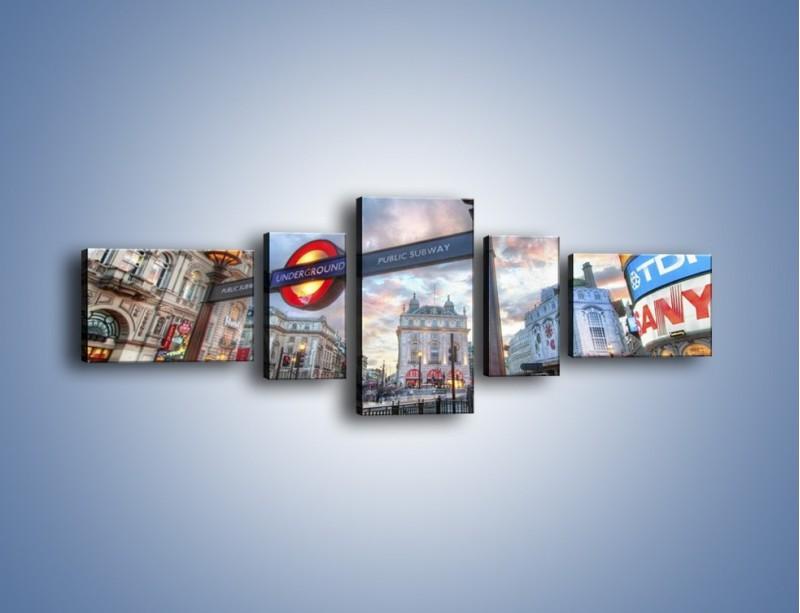 Obraz na płótnie – Wejście do londyńskiego metro – pięcioczęściowy AM334W6