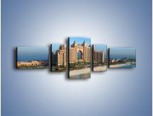 Obraz na płótnie – Atlantis Hotel w Dubaju – pięcioczęściowy AM341W6