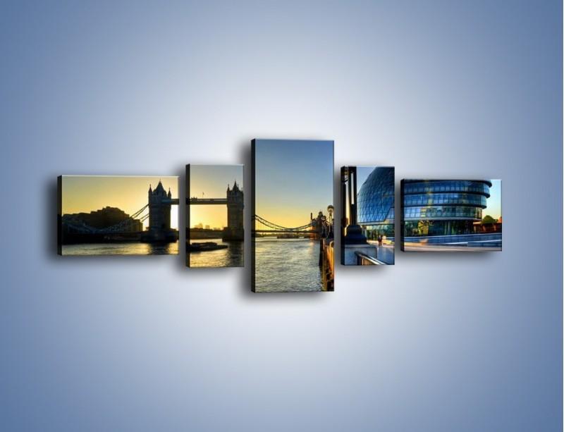 Obraz na płótnie – Londyński Tower Bridge – pięcioczęściowy AM348W6