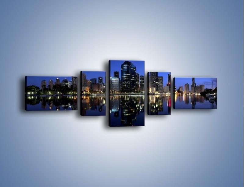 Obraz na płótnie – Brisbane w Australii nocą – pięcioczęściowy AM354W6