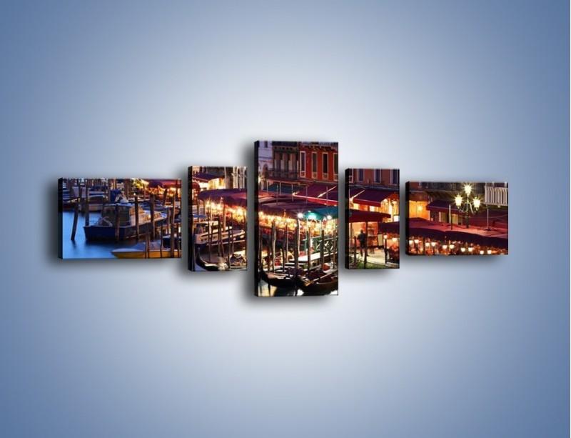 Obraz na płótnie – Wieczorowe życie w Wenecji – pięcioczęściowy AM358W6