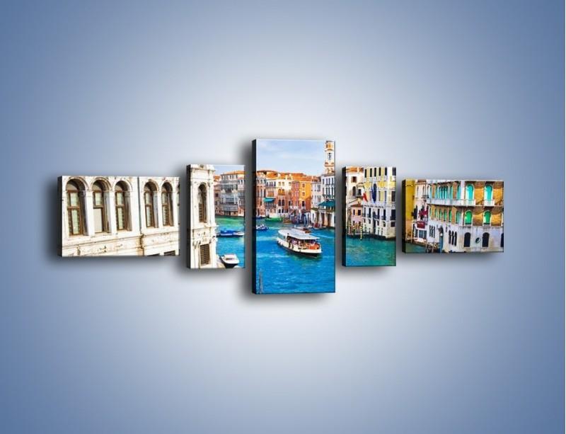 Obraz na płótnie – Kolorowy świat Wenecji – pięcioczęściowy AM362W6