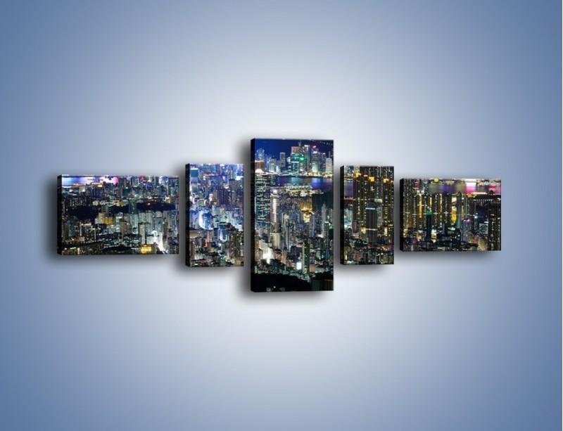 Obraz na płótnie – Drapacze chmur w Hong Kongu – pięcioczęściowy AM369W6