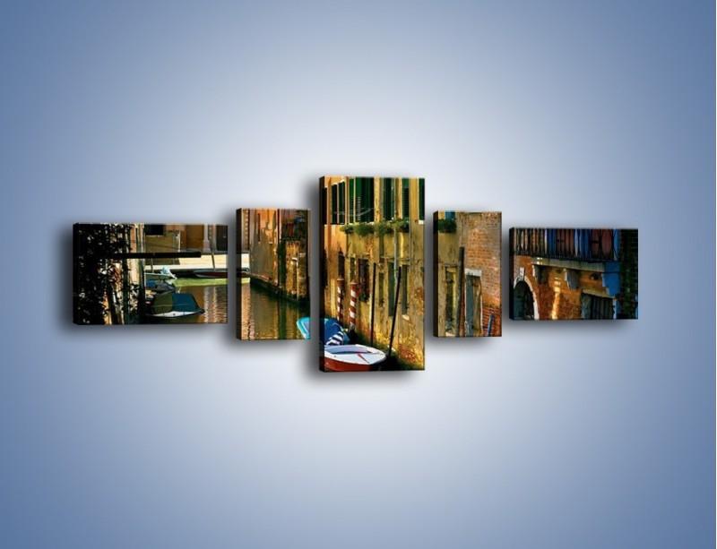 Obraz na płótnie – Cały urok Wenecji w jednym kadrze – pięcioczęściowy AM371W6