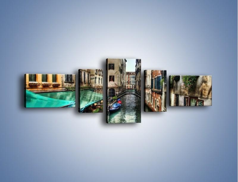 Obraz na płótnie – Wenecka uliczka w kolorach HDR – pięcioczęściowy AM374W6