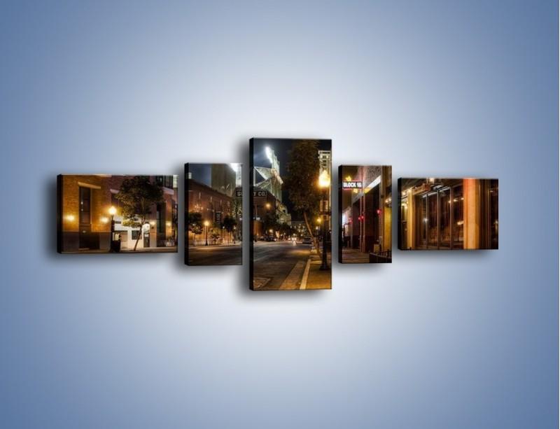 Obraz na płótnie – Ulica San Diego w Kaliforni – pięcioczęściowy AM390W6