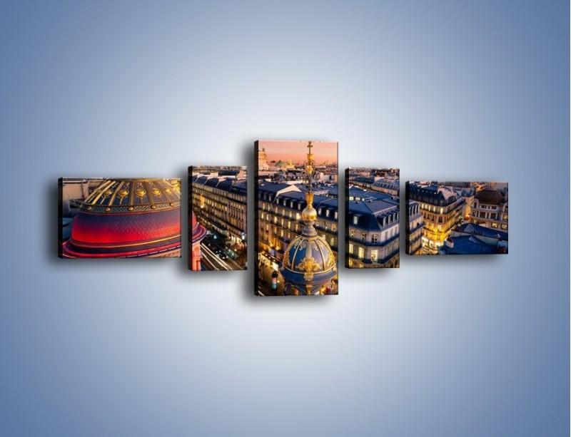 Obraz na płótnie – Paryska architektura – pięcioczęściowy AM402W6