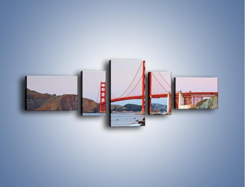 Obraz na płótnie – Most Golden Gate – pięcioczęściowy AM406W6