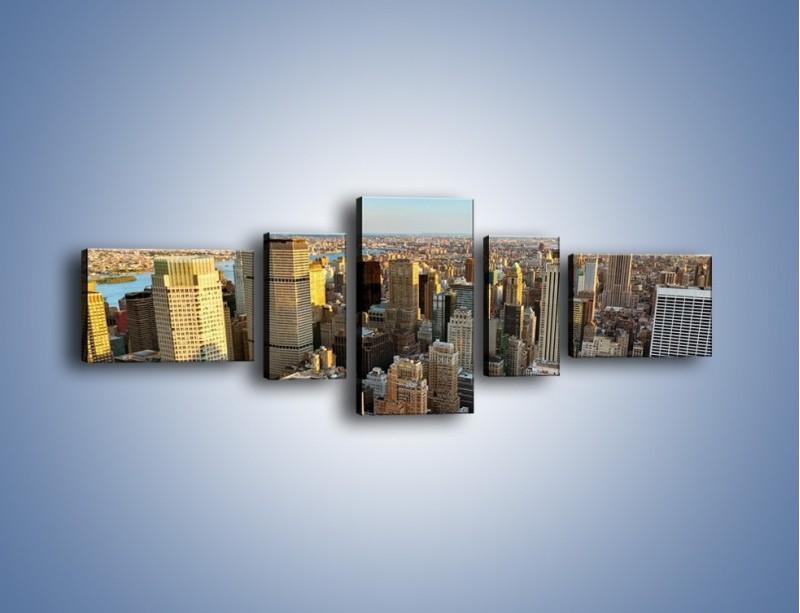 Obraz na płótnie – Manhattan w Nowym Yorku – pięcioczęściowy AM412W6