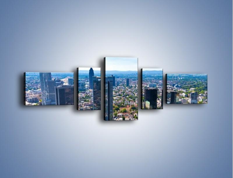 Obraz na płótnie – Panorama Frankfurtu – pięcioczęściowy AM414W6