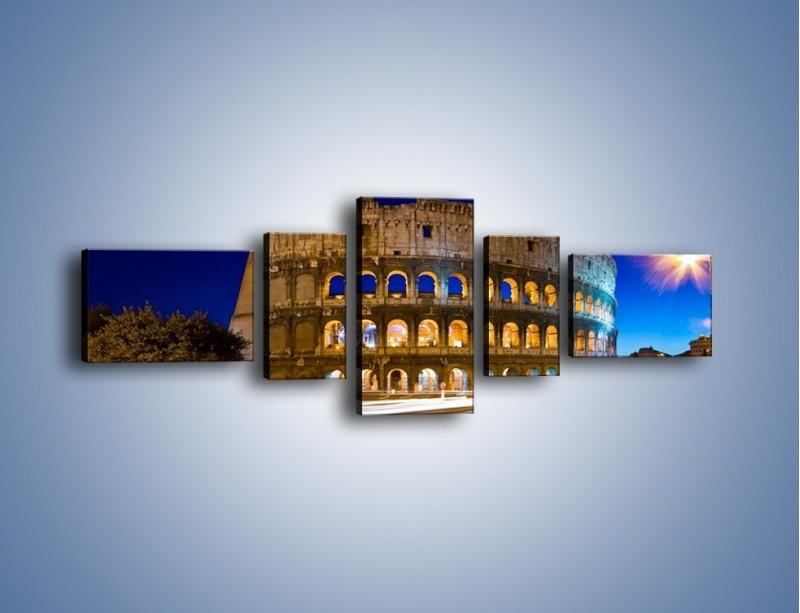 Obraz na płótnie – Koloseum po zmierzchu – pięcioczęściowy AM443W6
