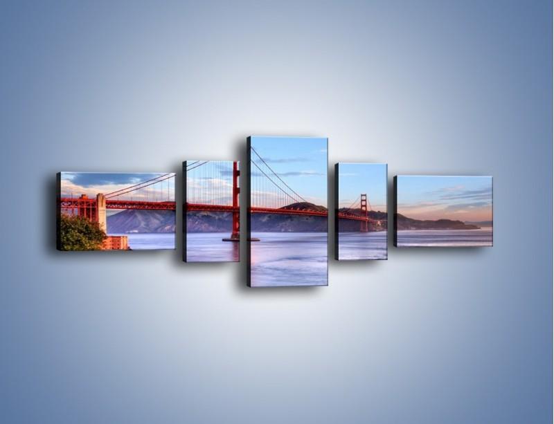 Obraz na płótnie – Most Golden Gate w San Francisco – pięcioczęściowy AM444W6