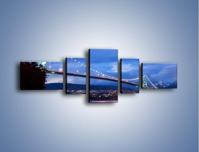 Obraz na płótnie – Most Lions Gate w Vancouver – pięcioczęściowy AM471W6