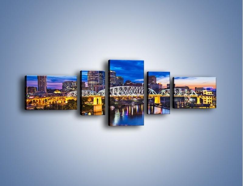 Obraz na płótnie – Most Shelby Street w Nashville – pięcioczęściowy AM489W6
