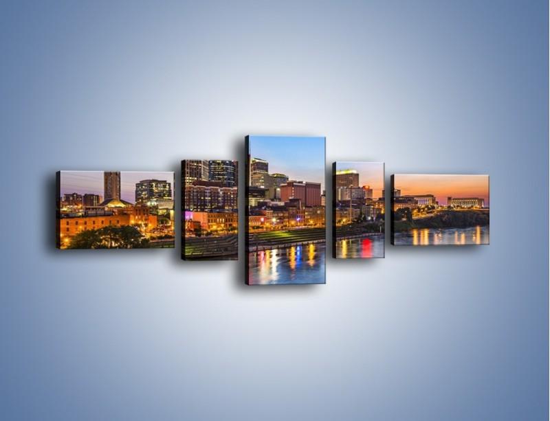 Obraz na płótnie – Nashville nad rzeką Cumberland – pięcioczęściowy AM491W6