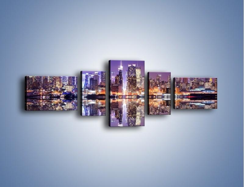 Obraz na płótnie – Panorama Midtown Manhattan – pięcioczęściowy AM492W6