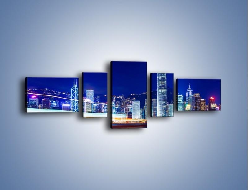 Obraz na płótnie – Panorama Hong Kongu – pięcioczęściowy AM499W6