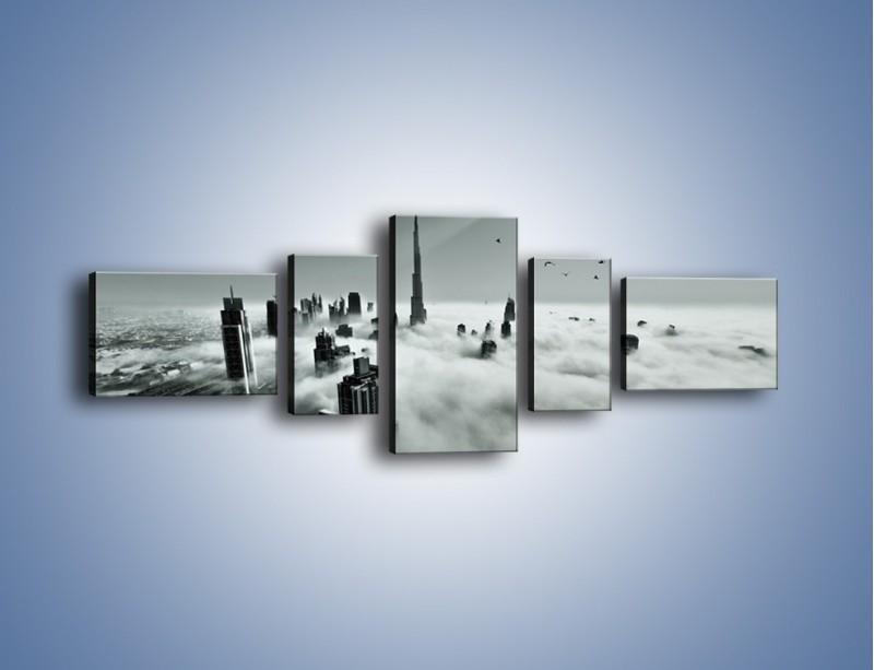 Obraz na płótnie – Centrum Dubaju we mgle – pięcioczęściowy AM502W6