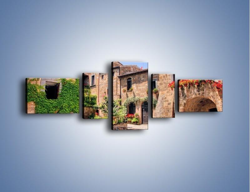Obraz na płótnie – Romantyczna uliczka we Włoszech – pięcioczęściowy AM533W6