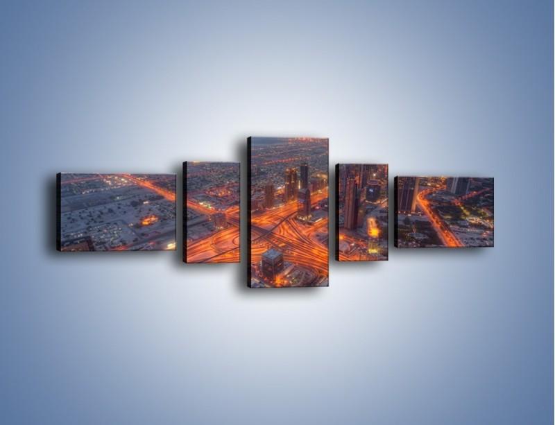 Obraz na płótnie – Panorama Dubaju o poranku – pięcioczęściowy AM538W6