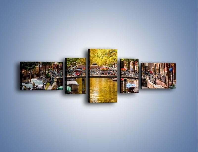 Obraz na płótnie – Most nad amsterdamskim kanałem – pięcioczęściowy AM552W6