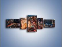 Obraz na płótnie – Centrum Las Vegas – pięcioczęściowy AM588W6