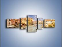 Obraz na płótnie – Canal Grande w Wenecji o poranku – pięcioczęściowy AM617W6