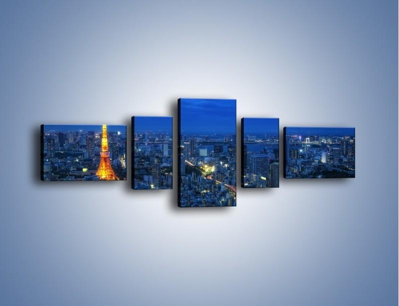 Obraz na płótnie – Tokyo Tower w Japonii – pięcioczęściowy AM621W6